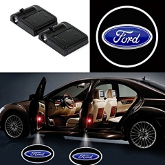 2 Pcs Wireless Car Door Led Welcome Laser Projector Ford Light Ghost Shadow Light Lamp Logos