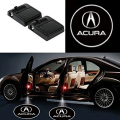 2 Pcs Wireless Car Door Led Welcome Laser Projector Acura Light Ghost Shadow Light Lamp Logos