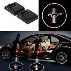 2 Pcs Wireless Car Door Led Welcome Laser Projector Mustang Light Ghost Shadow Light Lamp Logos