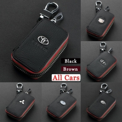 Car Key Holder Case Key Chain Wallet Bag Cover Fobs for For Toyota Renault Lexus Opel and Other All Cars