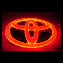 4D LED Car Decal Tail Logo Light Badge Lamp Emblem Sticker for TOYOTA