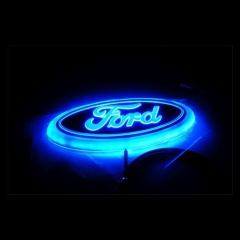 4D LED Car Decal Tail Logo Light Badge Lamp Emblem Sticker for Ford