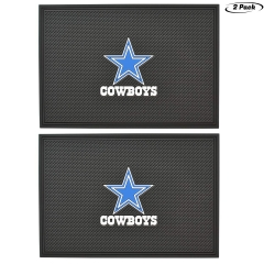 2pcs Dallas Cowboys Team Anti-Slip Rubber Pad, Car Dashboard Universal Non-Slip Mat,Can be Used for Household Goods mats, car Center Console Anti-Skid