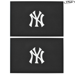 2pcs New York Yankees Team Anti-Slip Rubber Pad, Car Dashboard Universal Non-Slip Mat,Can be Used for Household Goods mats, car Center Console Anti-Sk