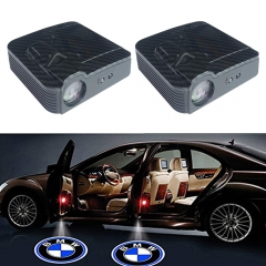 2 Pcs Carbon Fiber Lines BMW  Door Projector Lights,Universal Car LED Welcome Lights,No Drilling Required with BMW Logo