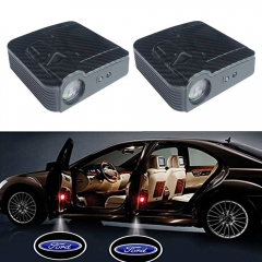 2 Pcs Carbon Fiber Lines Ford Door Projector Lights,Universal Car LED Welcome Lights,No Drilling Required with Ford Logo