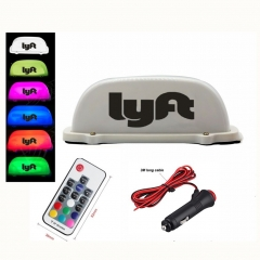 Lyft Car Roof Star Lights, 2019 Remote Control Waterproof Rideshare Roof LED Light, Decal Glow Accessories, 7 Glowing Colors Lyft Light Signs For Cars