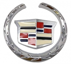Cadillac Emblem Decoration Cadillac Logo Symbol Metal Decals Labeling Car Stickers DIY 6CM, 2 Pack