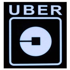 Uber Rideshare Sign, Uber LED Light Logo Sticker Decal Glow Decal Accessories Removable Rideshare Glowing Sign For Car Uber,USB Interface Power Cord