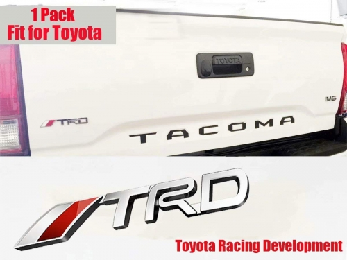 Toyota TRD Logo Car Emblem Chrome Stickers Decals Badge Labeling for Fj Cruiser, Supercharger, Tundra, Tacoma, 4runner,Yaris,Camry