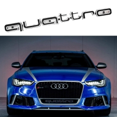 RS Style Front Quattro Emblem Grille Badge for Audi A1 A3 A4 A5 A6 A7 A8 Q3 Q5 RS Front Grille Logo Decal