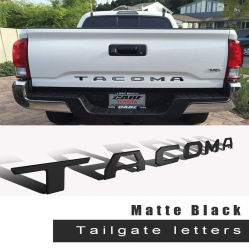 Tailgate Plastic Letters Inserts fits for 2016-2019 Toyota Tacoma Models