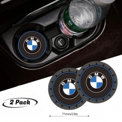 2Pcs Durable Non-Slip Silicone Cup Holder mat for BMW,Auto Cup Holder Insert Coaster pad