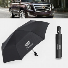 Auto Sport AUTO Open Large Folding Umbrella Windproof Sunshade with Car Logo (Cadillac)