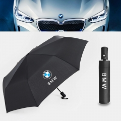 Auto Sport AUTO Open Large Folding Umbrella Windproof Sunshade with Car Logo (for BMW)