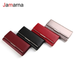 Jamarna Women Wallets PU Wallet Female Card Holder Red Silver Coin Purse Stylish Accessory Women Wallet Tri-fold Classic Design