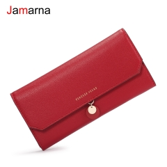 Jamarna Wallet Female Long Clutch Pu Women Wallets Purse Wallet Female Famous Brand Card Holders Cell Red Black Card Holder