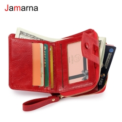 Jamarna Women Wallet PU Small Purse Women Wallet Zipper Card Holder Short Slim Wallet Stylish Coin Zipper Pocket New