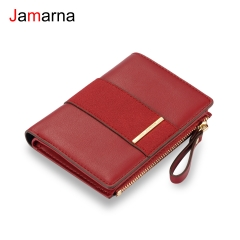Jamarna Wallet Female PU Vintage Small Wallet Purse Small Wallet With Zipper Frosted Splice Women Wallet Card Holder Christmas