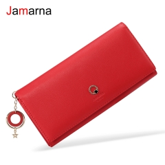 Jamarna Wallet Female PU Leather Magnetic Closure Women Wallets Clip Coin Pocket Stylish Pendant Wallet Female New Arrival