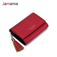 Jamarna Card Holder Tassel Slim Wallet Business Card Holder PU Mini Wallet Small Coin Purse Bank Card Holder Dropshipping