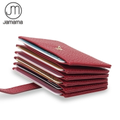 Jamarna Card Holder Genuine Leather Stylish Design Credit Card Holder Women Slim Wallet Small Purse For Cards Fashion Card Case