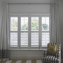 Hot sale nice price white PVC plantation shutters