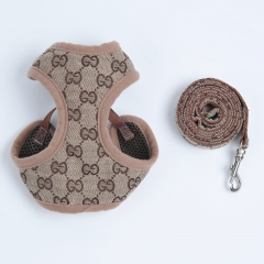 Pucci / Purberry Dog Harness&Leash Set