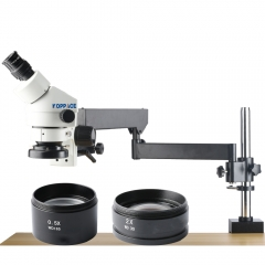 KOPPACE 3.5X-90X Magnification,Binocular Stereo Microscope,eyepieces WF10X/20,Rocker bracket,Mobile phone repair microscope,Includes 0.5X and 2.0X Barlow Lens
