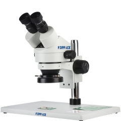 KOPPACE 7X-45X,Large platform,Binocular Stereo microscope,WF10X Eyepieces,144 LED Ring Light
