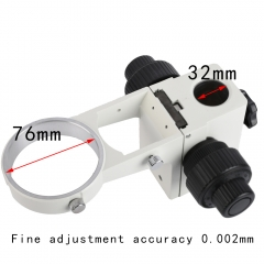 KOPPACE Stereo Microscope Focusing bracket,Microscope Focusing rack,Fine tuning accuracy 0.002mm,Bracket aperture 76mm
