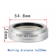 KOPPACE Stereo Microscope Auxiliary lens,220mm Working distance,Microscope lens 0.5X,54.8mm Interface size,microscope objective