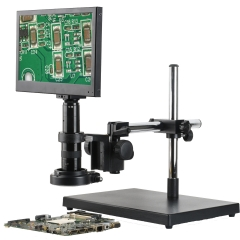 KOPPACE 21 Million Pixel,20X-127X,Monocular video microscope, HDMI Industrial microscope,13.3-inch integrated display,Extension on bracket