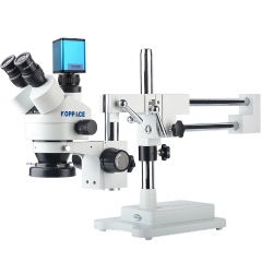 KOPPACE 3.5X-90X,Autofocus camera,HDMI HD Auto Focus Industry Microscope,Includes 0.5X and 2.0X Barlow Lens