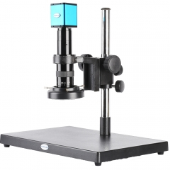 KOPPACE HDMI HD Auto Focus Industry Microscope,32X-205X C-Mount Industrial lens,LED Ring Light,Autofocus Digital Microscope camera