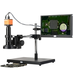 KOPPACE 17X-108X,16MP Full HD 1080P,13.3 inch display screen,Industry Digital Microscope,Mobile phone repair electron microscope