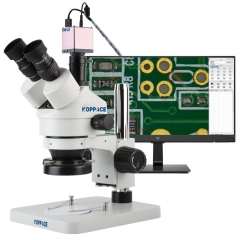 KOPPACE 3.5X-90X Stereoscopic Measuring Microscope 2MP Full HD 1080P 60FPS HDMI Electron Industry Digital Microscope
