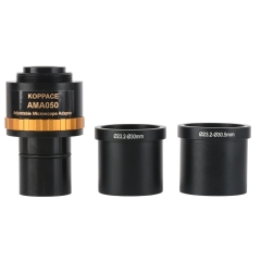 KOPPACE Adjustable focus industrial camera adapter,0.5X microscope electronic eyepiece,23.2mm to 30mm and 30.5mm interface,Camera interface 25mm