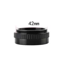 KOPPACE 2X Single Barrel Microscope Auxiliary Objective 40mm Working Distance Microscope lens 42mm mounting size