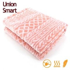 Warmth reflection blanket with back side printing & cutting flannel fleece