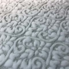 Novel jacquard velvet fleece