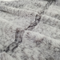 2 Side Brushed Back Printing Imitation Bunny Fur Fabric Fleece