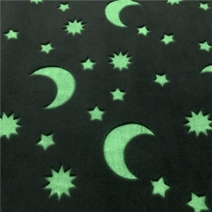 2Side Brushed Glow In The Dark Flannel Fleece Fabric