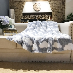 Full Size super soft printed fleece Sherpa Blanket / Throw