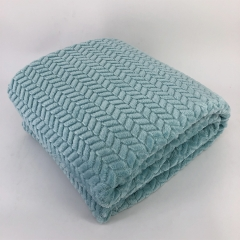 popcorn waffle Jacquard checked flannel fleece blanket Throw