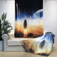 super soft HD retina printing flannel fleece blanket throw with 3D digital animal pattern design