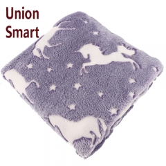 New product glow in the dark luminous flannel fleece blanket throw