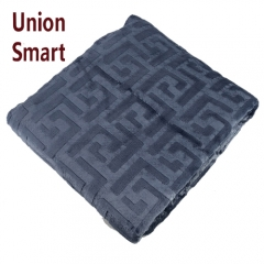 100% polyester two side brushed 3D embossed cutting flannel fleece blanket