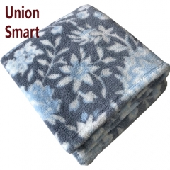 2020 New product 100% polyester printed sherpa sherpa blanket throw with shining