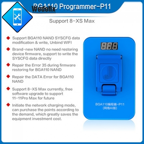 JC BGA110 P11F PCIE Programmer for iPhone 8/8P/X/XR/XS/XSMAX/11/11pro/11promax